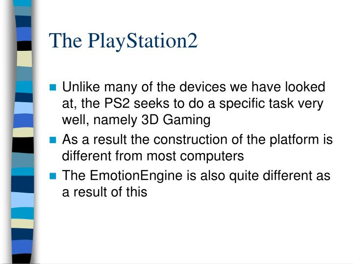 The PlayStation2