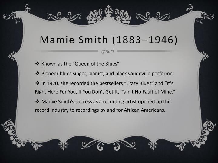 Mamie Smith (1883–1946)