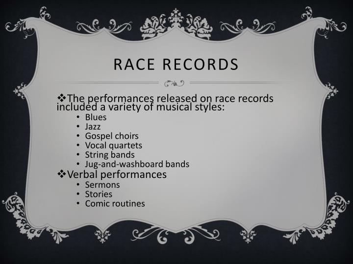 Race Records