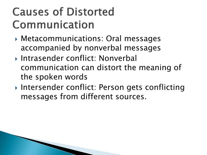 Causes of Distorted Communication