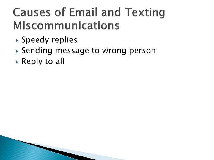 Causes of Email and Texting Miscommunications