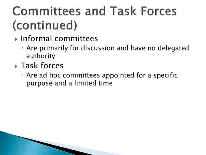 Committees and Task Forces (continued)