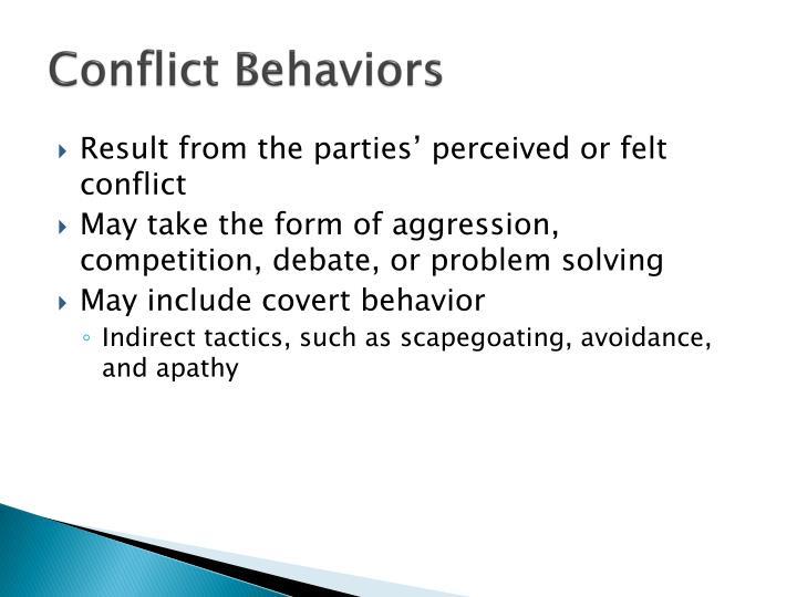 Conflict Behaviors
