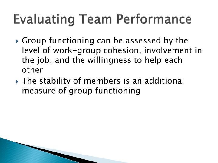 Evaluating Team Performance