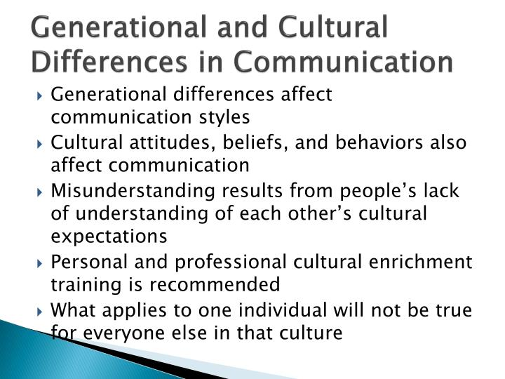 Generational and Cultural Differences in Communication