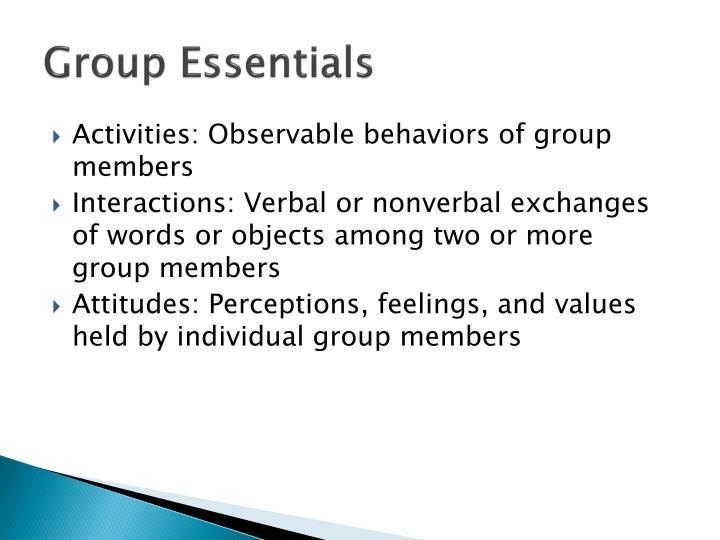 Group Essentials
