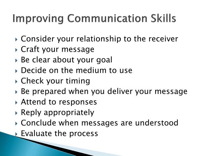 Improving Communication Skills