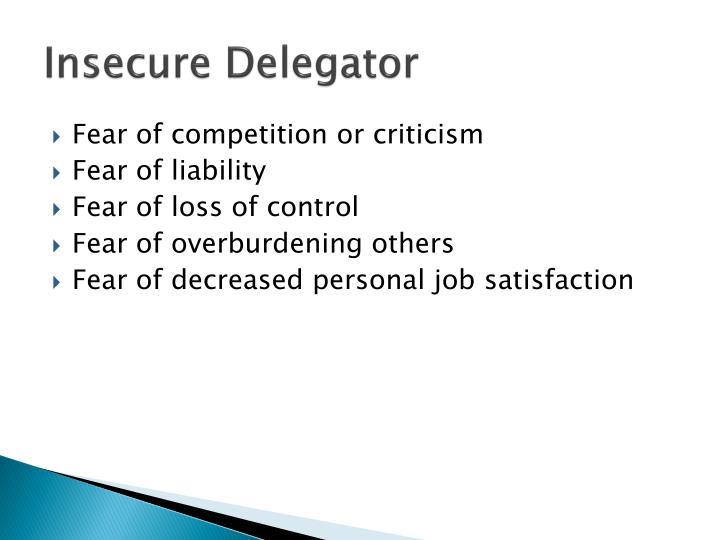 Insecure Delegator