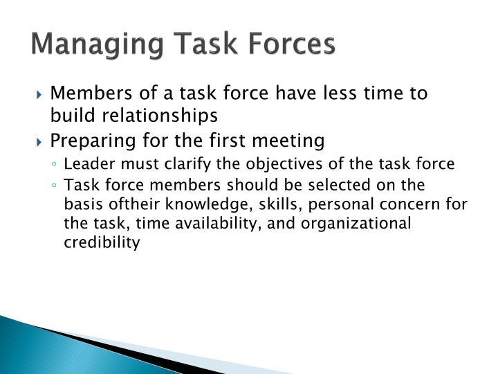 Managing Task Forces