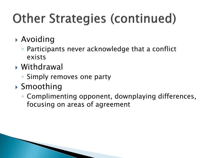 Other Strategies (continued)