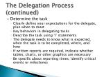 the delegation process continued3