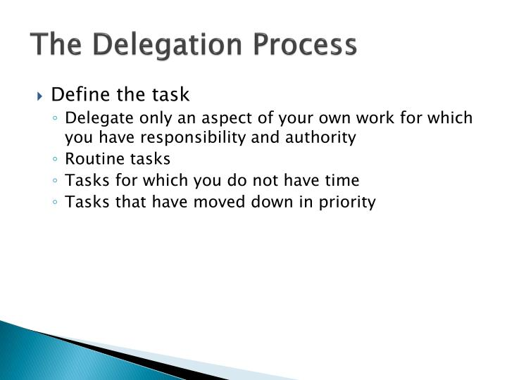The Delegation Process