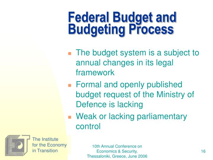 Federal Budget and Budgeting Process