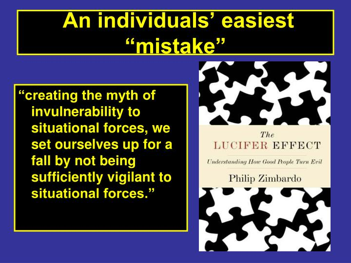 """An individuals' easiest """"mistake"""""""