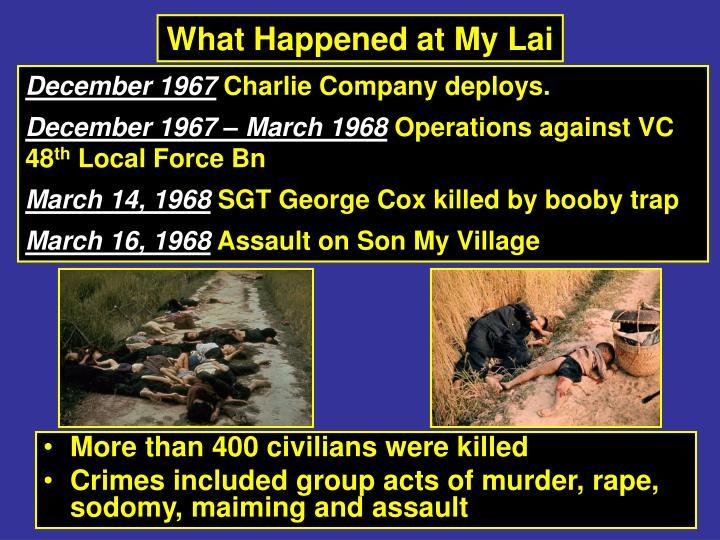 What Happened at My Lai