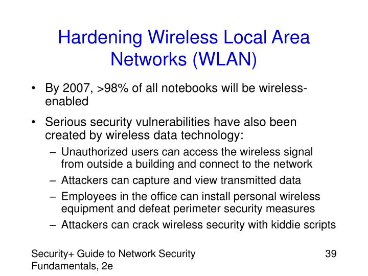 Hardening Wireless Local Area Networks (WLAN)