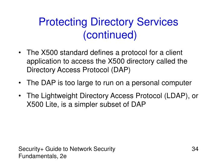 Protecting Directory Services