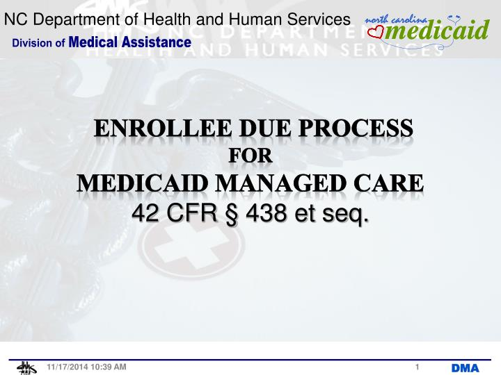 Enrollee due process for medicaid managed care 42 cfr 438 et seq