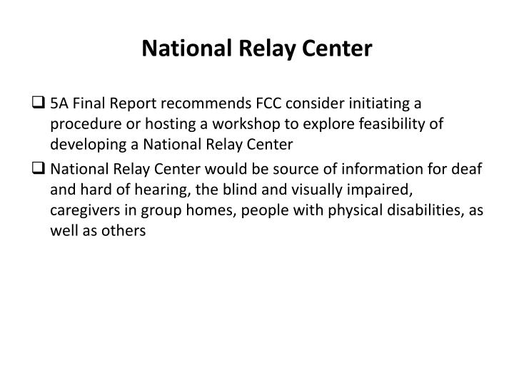 National Relay Center