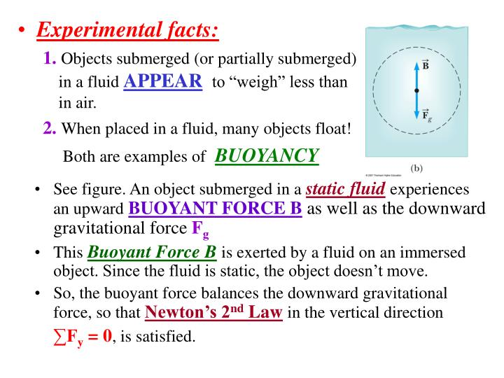 Experimental facts: