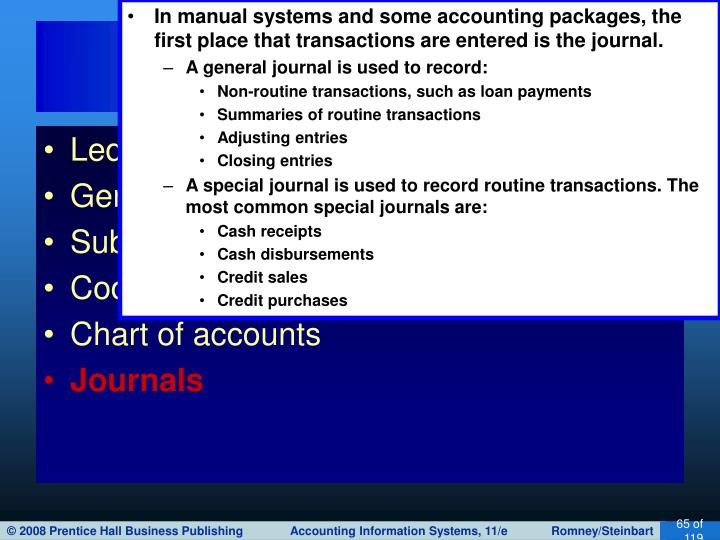 In manual systems and some accounting packages, the first place that transactions are entered is the journal.