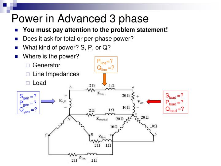 Power in Advanced 3 phase