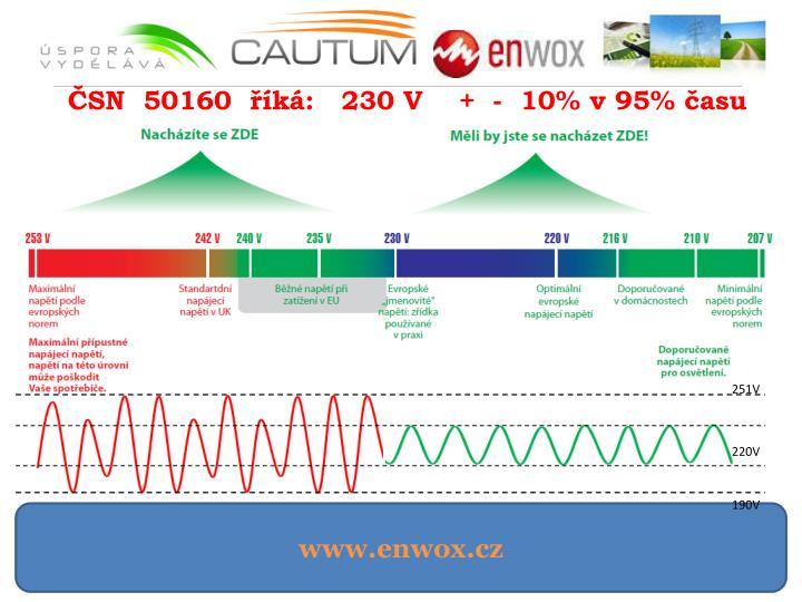 ČSN  50160  říká:   230 V    +  -  10% v 95% času