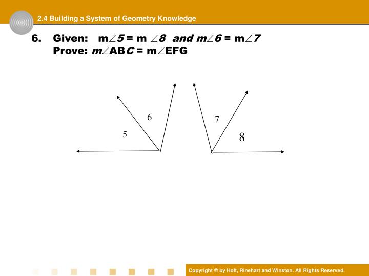 2.4 Building a System of Geometry Knowledge