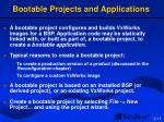 bootable projects and applications