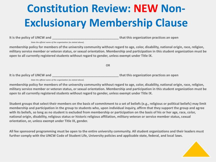 Constitution Review: