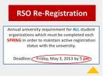 rso re registration