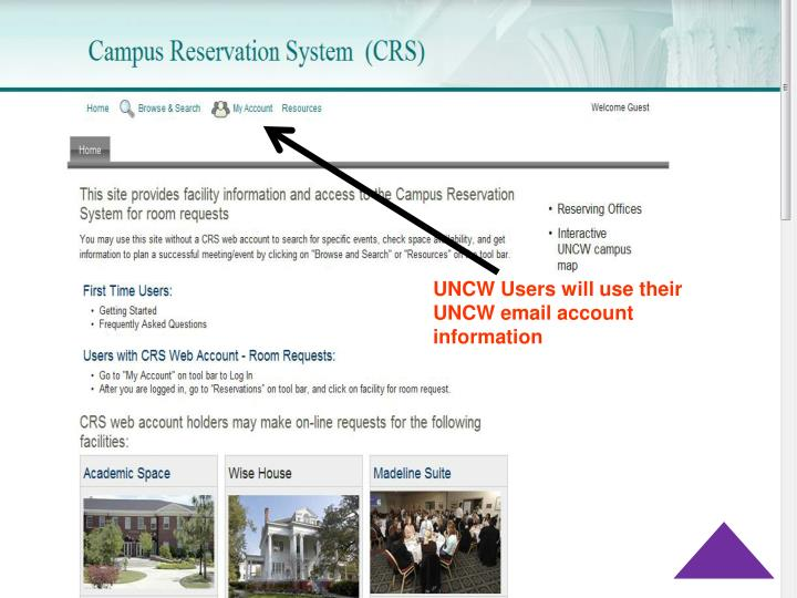 UNCW Users will use their UNCW email account information