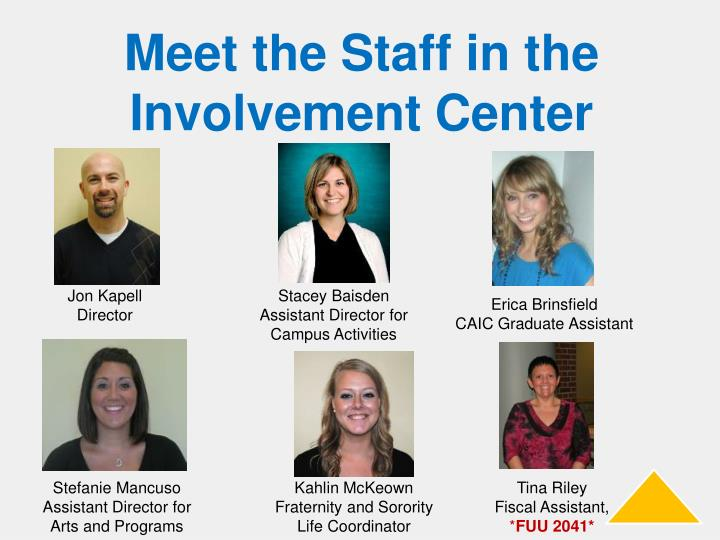 Meet the Staff in the Involvement Center