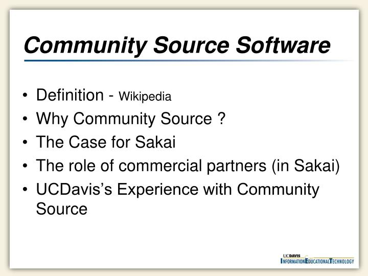 Community source software