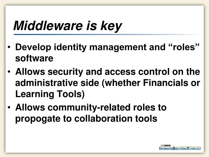 Middleware is key
