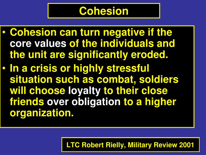 Cohesion can turn negative if the