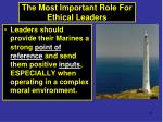 the most important role for ethical leaders