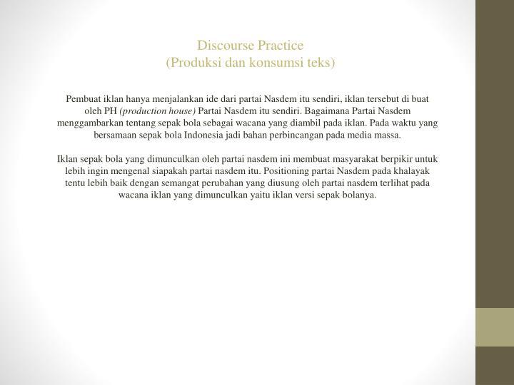 Discourse Practice