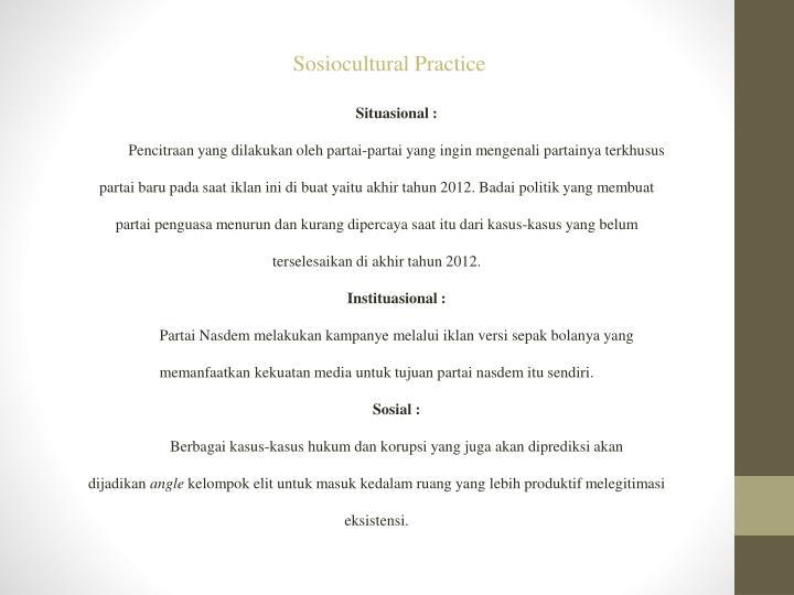 Sosiocultural