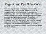 organic and dye solar cells