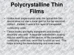 polycrystalline thin films