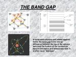 the band gap1
