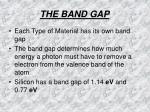the band gap2