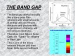 the band gap3