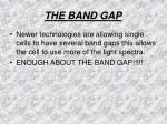the band gap4