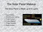 the solar panel makeup