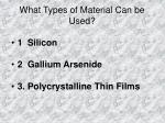 what types of material can be used
