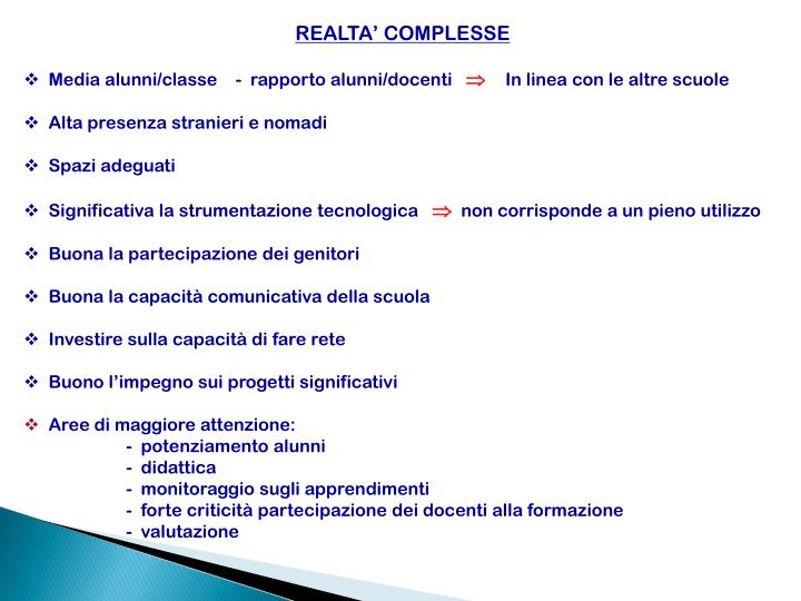 REALTA' COMPLESSE