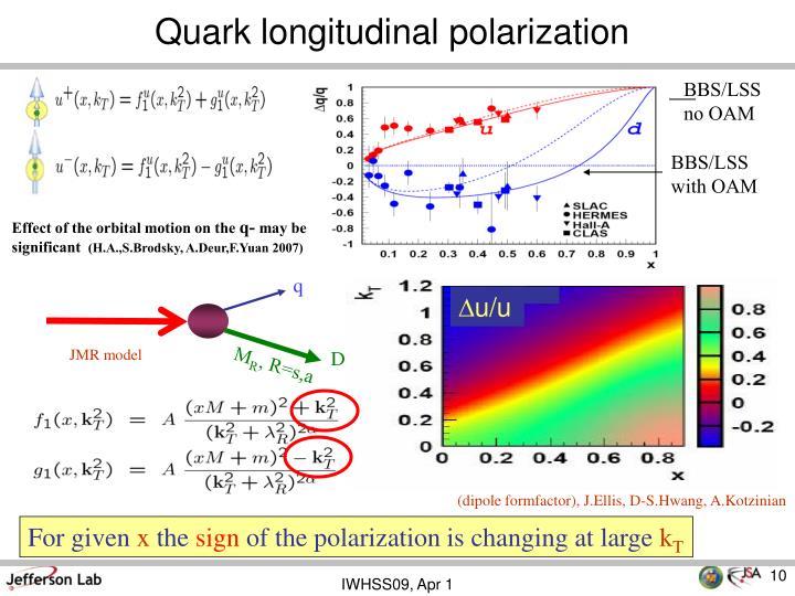 Quark longitudinal polarization