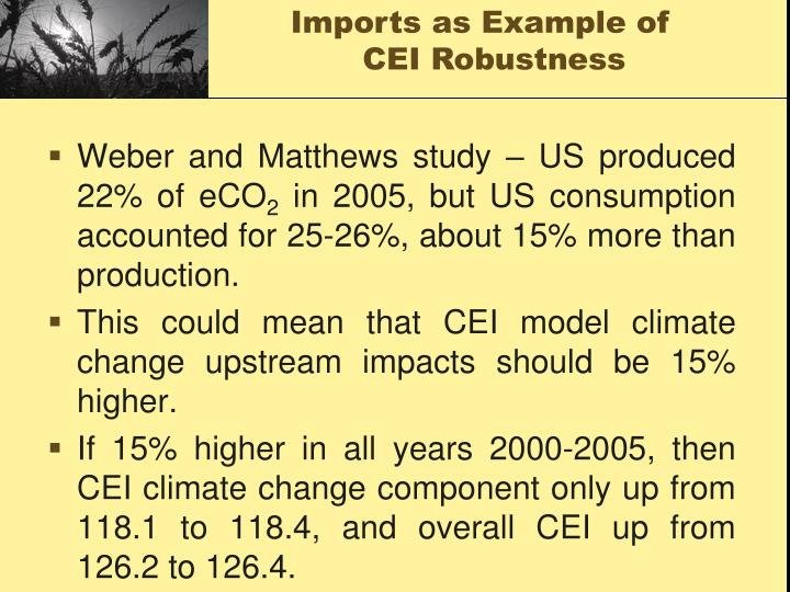 Weber and Matthews study – US produced 22% of eCO